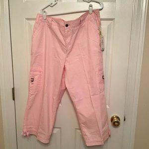 NWT Caribbean Joe pink cargo pants